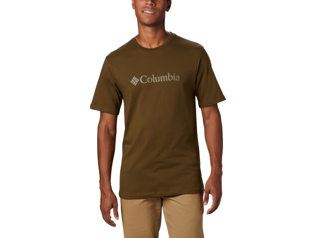 Columbia CSC Basic Logo Camiseta Manga Corta Hombre, new olive